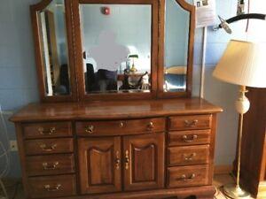 Bedroom furniture dresser, chest of drawers, desk & recliner