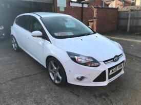 2013 13 Ford Focus 1.6TDCi ( 115ps ) Titanium Sat Nav in gleaming white fsh