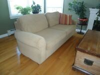 Pier-One Comfy Couch/Sofa, Chair and Ottoman