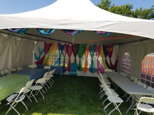 Chairs tables tent rental