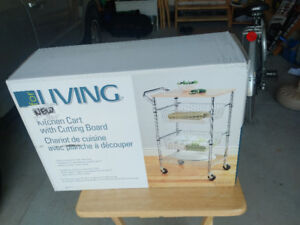 Kitchen Cart with Cutting Board New in Box