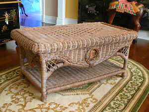 Wicker Style Coffee Table & End Table