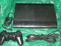 PS3 Super Slim 250 GB with 5 Games