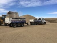 Dump Truck with Tridem Pup For Hire