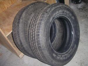 Goodyear Wrangler HP truck tires.