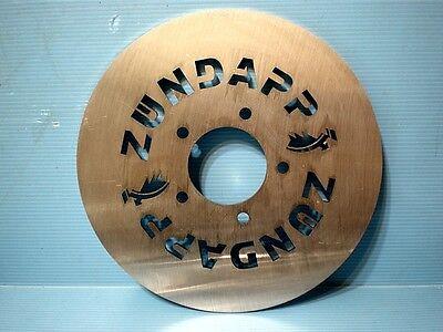 Zündapp KS 50 80 Spezial Bremsscheibe 220 mm mit Schriftzug + Zündapp Emblem NEU