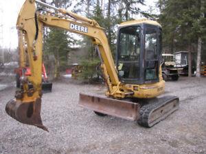 John Deere 35 D with cab excavator