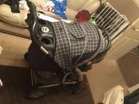 Push chair pram rain cover