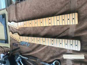Two Mexico necks for sale one Strat one Tele..