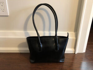 FURLA black leather purse Made in Italy