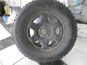 USED FIRESTONE WINTER TIRES AND RIMS 235/70/R16