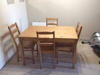 IKEA Jokkmokk Pine Table + 4 chairs