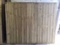 🌳HEAVY DUTY HIGH QUALITY CLOSE BOARD STRAIGHT TOP WOODEN FENCE PANELS🌲