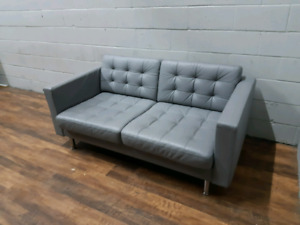 Free delivery: Modern Grey Leather sofa