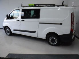 2016 Ford Transit Custom 2.2TDCi 125 CREW VAN BUY FOR ONLY £299 A MONTH, FINANCE