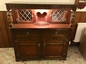 Antique style oak buffet sideboard