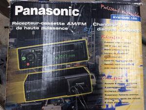 Système de son Auto-Panasonic cassette et CD avec hauts parleurs