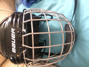 2 hockey helmets w/ cage & womens Protective cup