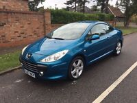 PEUGEOT 307 SPORT HDI CC CONVERTIBLE 2007 72k FULLY LOADED DRIVES LOVELY