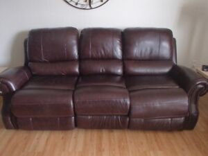 Leather recliner couch for sale