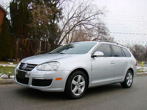 2009 Volkswagen Jetta 2.5 Wagon, Silver on Black, panaramic roof