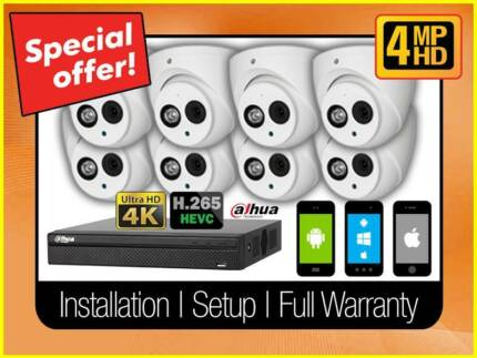 THE ULTIMATE 4MP IP CAMERA CCTV PACKAGE FULLY INSTALLED