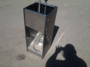 PRICE REDUCED- 4 STALKO WET/DRY PIG FEEDERS WITH NIPPLE DRINKERS