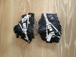 Leather boot spats...2 pairs
