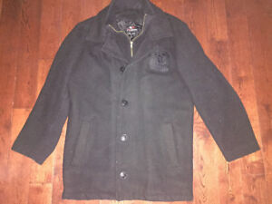 Youth large Whitby wildcat wool coat