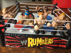 WWE Rumblers Wrestling Figures and Ring