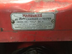Marquette model 318 Hi-Rate Battery Charger *VINTAGE* London Ontario image 5