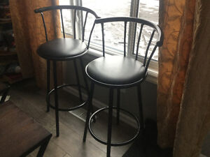 Selling 2 Black Bar Stools in Great Condition