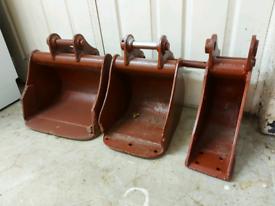 Mini digger / excavator digger buckets