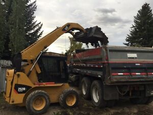 Bob cat, truck and dump trailer for hire