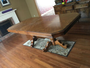 Double Pedestal Dining Table Set - Made in Canada