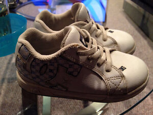 DC kids white shoes with leather uppers - size 10 Edmonton Edmonton Area image 2
