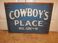 New wooden Cowboy sign