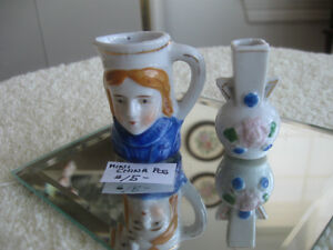 TWO ADORABLE MINATURE CHINA COLLECTIBLES