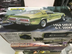 Ford Mustang gt 500 1968 exact détail diecast 1/18 die cast