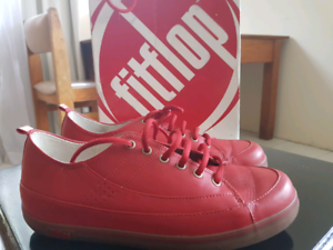 3522c9c9d Red fitflop Supertone Leather Sneakers - Womens Size 10