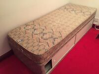 Single divan style bed with mattress £20