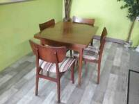 Drawer-Leaf Dining Table & Set Of 4 Chairs - Can Deliver For £19