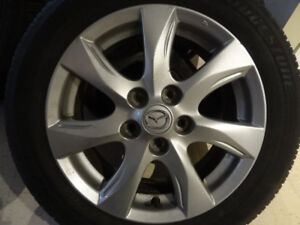 4 X MAZDA MAGS 5X114.3 PERFECT CONDITION 205 55 16 TIRES