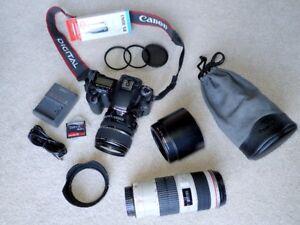 Canon EF70-200mm F4L IS USM +EOS40D w/ EFS 17-85mm F4-5.6 IS USM