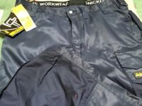 Snickers 3212 navy work trousers x 2