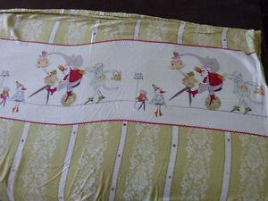 Housse de couette pour lit simple, couverture, rideau, tapis