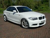 BMW 118 2.0TD M SPORT COUPE AUTOMATIC WHITE 2011 11 REG