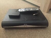 Sky hd box, remote and router