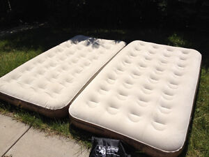 Coleman Air Beds, twin size, zips together to make a king