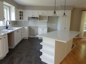 Kitchen cabinetry, quartz countertops and sink/faucet for sale